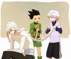 Kite, Gon, and Killua   ~Hunter X Hunter