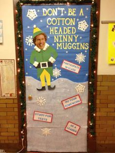 Image result for classroom door funny christmas decoration ideas