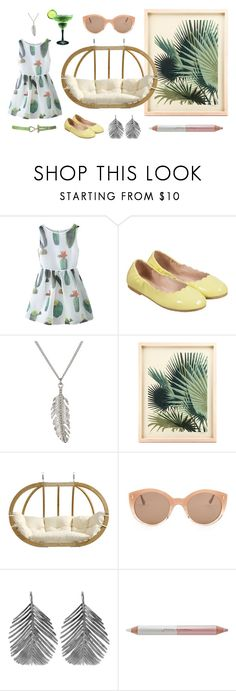"""Oasis"" by perunica ❤ liked on Polyvore featuring Chicnova Fashion, Bloch, Delicates by Paloma & Ellie, Amazonas, Illesteva, Alex Monroe and Jane Iredale"