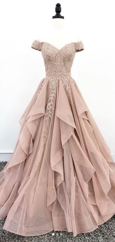 Off Shoulder Dusty Champagne Lace Cheap Long Evening Prom Dresses, Eve – Lover. - - Off Shoulder Dusty Champagne Lace Cheap Long Evening Prom Dresses, Eve – LoverBridal Source by Cute Prom Dresses, Cheap Dresses, Dance Dresses, Pretty Dresses, Sexy Dresses, Awesome Dresses, Summer Dresses, Wedding Dresses, Long Dresses
