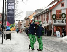 Volunteers posing for a 'selfie' ahead of the 2016 Youth Winter Olympics in Lillehammer Norway.