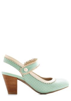 Be Bright There! Heel in Mint | Mod Retro Vintage Heels | ModCloth.com