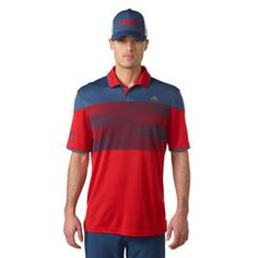 Men's adidas Scarlet USA Golf Friday Competition Polo