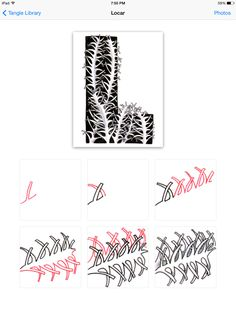 How to draw tangle pattern Locar