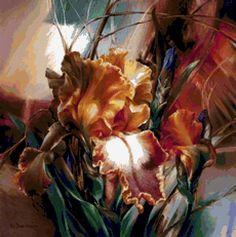 ИРИСЫ художница Vie Dunn-Harr, предпросмотр
