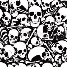 Skull Collage Background