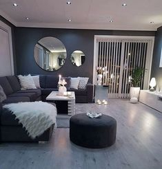 Living Room Decor Cozy, Home Living Room, Apartment Living, Living Room Designs, Living Spaces, Living Room Ideas With Grey Walls, Table For Living Room, Modern Living Room Design, Cozy Apartment Decor