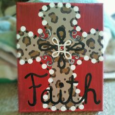 Painted by:. Canvas Crafts, Diy Canvas, Canvas Art, Cross Paintings, Canvas Paintings, Hand Painted Crosses, Diy Christmas Gifts, Holiday Decor, Arts And Crafts