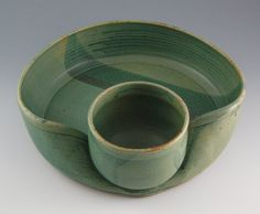 Pottery Chip and Dip Platter by sonjagloria on Etsy, $52.00