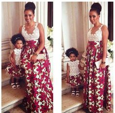 Cute mommy-daughter Ankara dresses ~Latest African Fashion, African Prints, African fashion styles, African clothing, Nigerian style, Ghanaian fashion, African women dresses, African Bags, African shoes, Kitenge, Gele, Nigerian fashion, Ankara, Aso okè, Kenté, brocade. ~DK