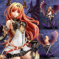 41.99$  Watch more here - http://aiu7u.worlditems.win/all/product.php?id=32620114739 - Pop Game Anime Kotobukiya Rage Of Bahamut Dark Angel Olivia Ani Statue 29CM PVC Action Figure Toy New Loose KA0351