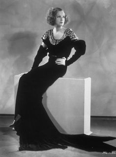 Greta Garbo wearing a costume designed by Gilbert Adrian, photographed for Clarence Brown's Inspiration (1931)