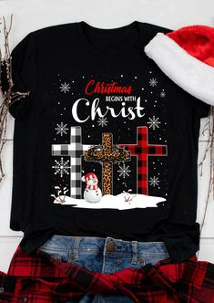 Plaid Leopard Printed Merry Christmas Trees T-Shirt Tee - Black - Bellelily Merry Christmas, Plaid Christmas, Christmas Shirts, Christmas Outfits, Christmas Trees, Christmas Decals, Christmas Clothing, Hallmark Christmas, Christmas Crafts