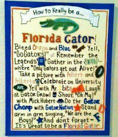 Once a Gator, always a Gator!  (With the exception of turncoat SOS.)