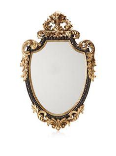 50% OFF Baroque-Style Mirror, Black/Gold