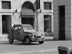 A flash of the 60's  Citroen 2CV Marseille, France  My dad used to own one of these...