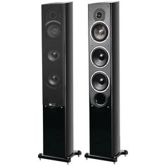 "Pure Acoustics 5.25"" Noble Ii Gloss Black Slim Tower Speakers"