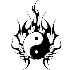 New Tattoo Designs Men Drawings Yin Yang 69 Ideas Arte Yin Yang, Ying Y Yang, Yin Yang Art, Yin Yang Tattoos, Tribal Arm Tattoos, Small Tattoos, Tattoos For Guys, Flame Tattoos, Cat Tattoo