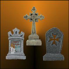 **NEW** Tombstone Set #26 Miniature Halloween Village Graveyard by Skinny Bones