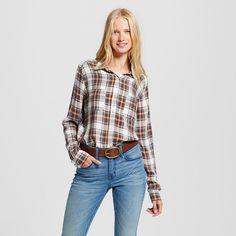 Women's Boyfriend Shirt Black Xxl - Mossimo Supply Co. (Juniors'), White