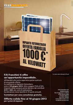 Impianto fotovoltaico - Offerta famiglie
