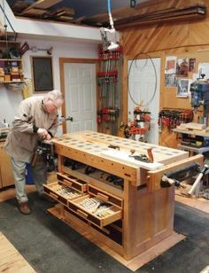 The Work Shop On Pinterest Table Saw Workbenches And