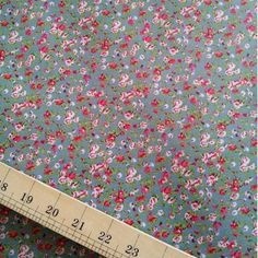 Ditsy Floral Ripstop in duck egg blue Duck Egg Blue, Ditsy Floral, Waterproof Fabric, Blue Green