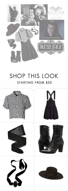 """""""beetlejuice, beetlejuice, beetlejuice"""" by prinsomnia ❤ liked on Polyvore featuring Ryder, Glamorous, H&M, Wolford, Johnston & Murphy, Yves Saint Laurent, Zara and WALL"""