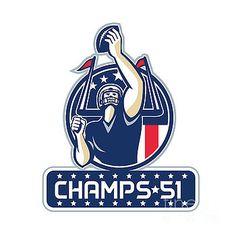 Football Champs 51 New England Retro by Aloysius Patrimonio