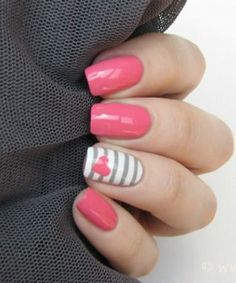 Beautiful Love Dating Nail Art