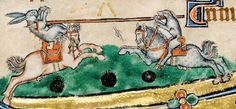 Medieval dog and rabbit jousting.