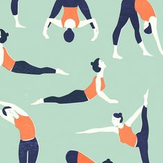 It's all about magazines today! Some yoga poses I illustrated for the lovely @libellenl Gezond Special. In stores now! #libellenl #healthy #yoga #yogapractice #yogaillustration #lottedirks