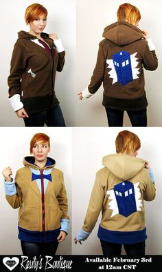 Etsy shop Rarity's Boutique's Doctor Who hoodies