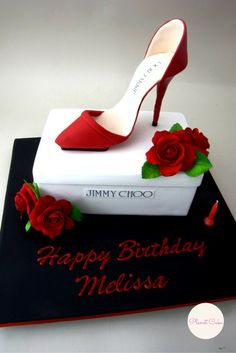 Shoe Box Cake|Jimmy Choo cake|Stilletto Cake