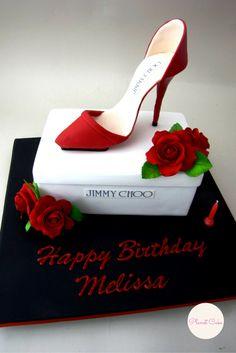 Shoe Box Cake Jimmy Choo cake Stilletto Cake
