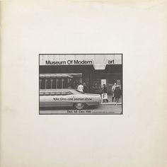 Yoko Ono, Museum of Modern [F]art,/em>, 1971. ©YOKO ONO 2014/THE MUSEUM OF MODERN ART LIBRARY, NEW YORK