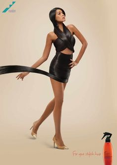 [2/3] Convertir el pelo en vestido. Esto fue lo que hizo este anunciante para promocionar los beneficios de su producto.