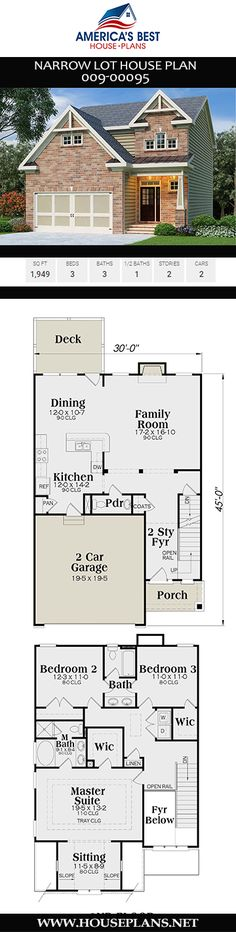 82 Best Narrow Lot House Plans images in 2019   House plans ... Narrow Lot House Plans For S on building plans for narrow lots, house plans for a cabin, house plans for retired couples, house plans for empty nesters, small houses for narrow lots, cottage plans for narrow lots, duplex plans for narrow lots, beach houses for narrow lots, house plans for downsizing, homes for narrow lots, house plans for modern homes, house plans for garages, house plans for construction, house plans for condos, house plans for handicapped people, swimming pools for narrow lots,