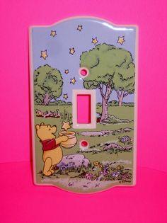 Disney Winnie The Pooh Ceramic Single Light Switch Plate Cover RARE 1996 #Disney