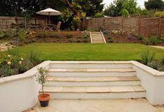 sloping garden designs ideas - Google Search