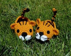 Crochet Pattern for these cute Tiger Booties!