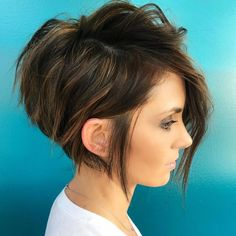 The long pixie cut is a great way to take your short hair to the next level. Its variants suit different face shapes, hair types, and personalities. Check out the best long pixie haircut ideas in pictures to get inspired! Short Asymmetrical Haircut, Edgy Short Haircuts, Cute Hairstyles For Short Hair, Hairstyles Haircuts, Curly Hair Styles, Gorgeous Hairstyles, Short Hair Cuts For Women Edgy, Hair Cut Styles, Edgy Short Hair Styles
