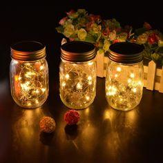 Image Solar Mason Jar String Light with Warm White Light LED for Christmas