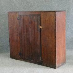 """Late 19Th Century Brown Wainscot One Door Cupboard, 43"""""""