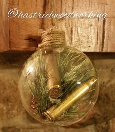 Bullet Ornament Bullet Christmas Ornament Handmade Ornament Etsy Happy New Year Homemade Ornaments, Diy Christmas Ornaments, Christmas Balls, Homemade Christmas, Rustic Christmas, Christmas Fun, Christmas Decorations, Redneck Christmas, Hunter Christmas Gifts