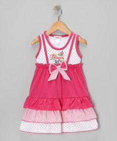 Take a look at this Pink 'Princess' Ruffle Dress - Toddler & Girls by Unik on #zulily today!