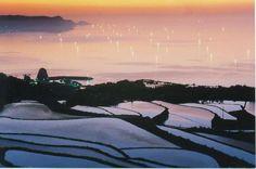 山口県長門市・棚田と漁り火  http://www.maff.go.jp/j/nousin/sekkei/museum/m_siki/59_isari/