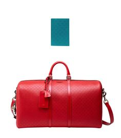 40d20c8a47de Gucci diamante leather passport case and bright diamante leather carry-on  duffel bag Carry On