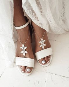 18 Beach Wedding Shoes That Inspire ❤ beach wedding shoes white comfortable be_nelipots #weddingforward #wedding #bride Beach Wedding Shoes, White Wedding Shoes, Wedding Bride, Wedding Ideas, Bare Foot Sandals, Barefoot, Take That, Inspire, Chic