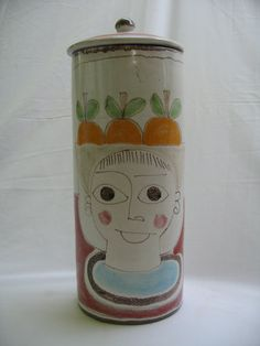 Desimone Italy Covered Pottery Jar by Modarts1 on Etsy, $90.00